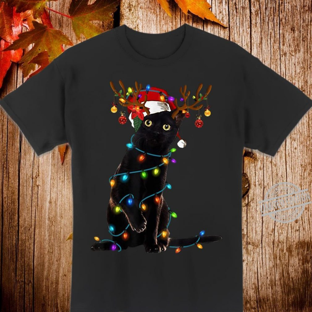 Santa cat Christmas tree Shirt