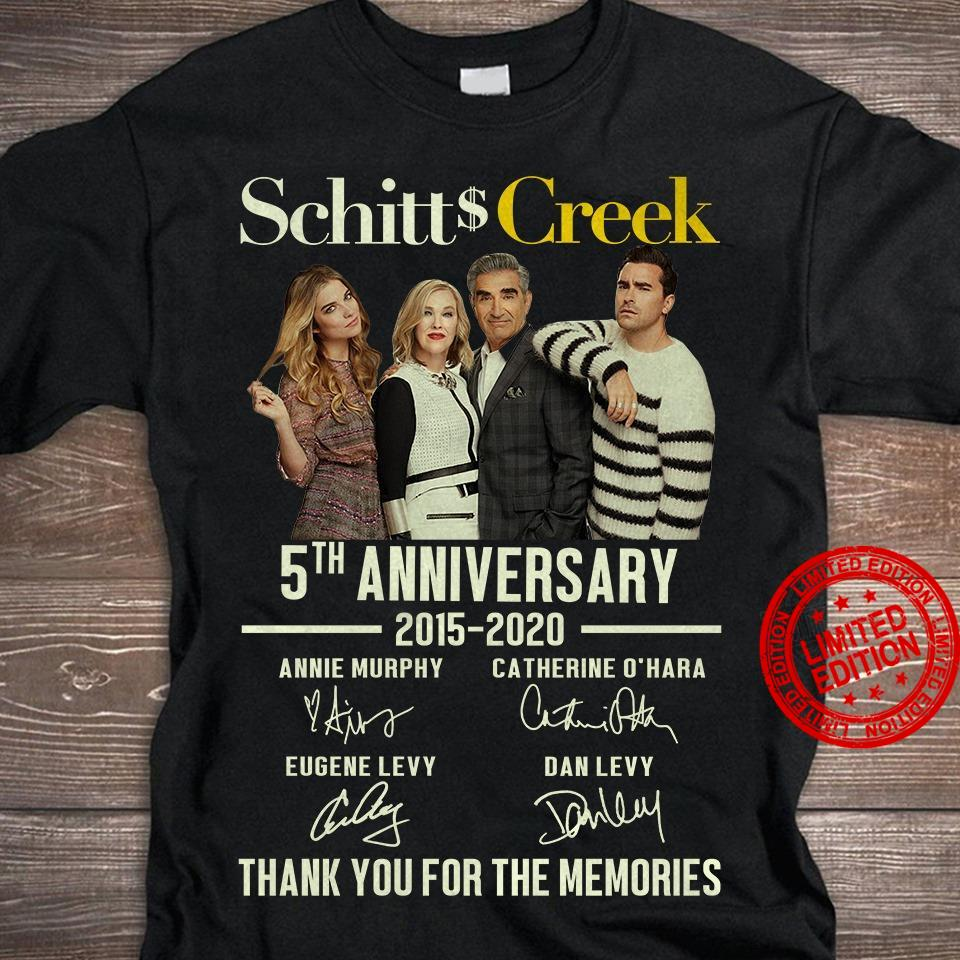 Schitts Greek 5th Anniversary 2015-2020 Thank You For The Memories Shirt