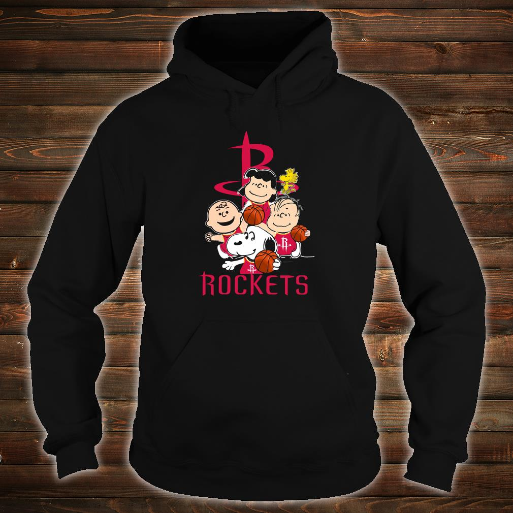 Snoopy and friends Rockets team shirt hoodie