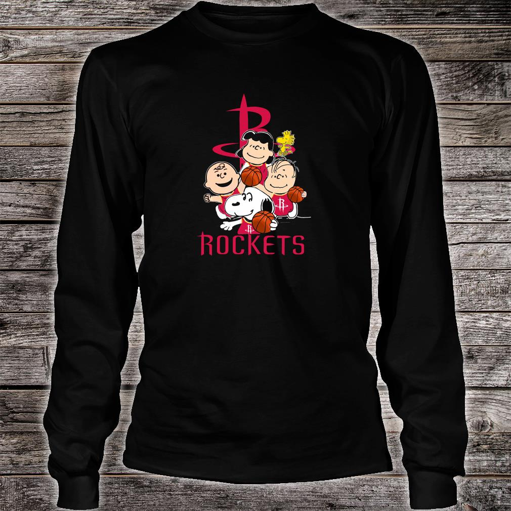 Snoopy and friends Rockets team shirt long sleeved