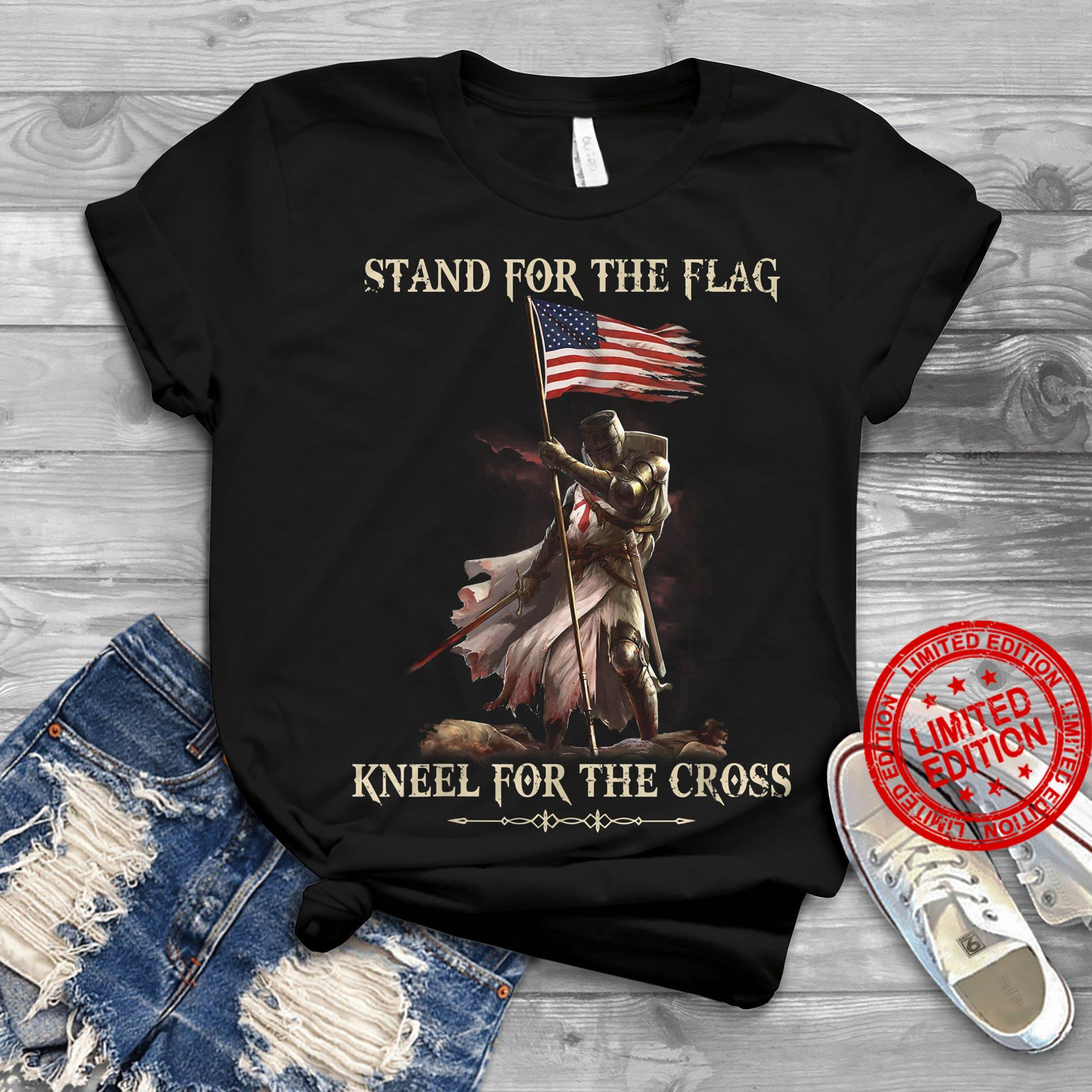 Stand For The Flag Kneel For The Cross Shirt