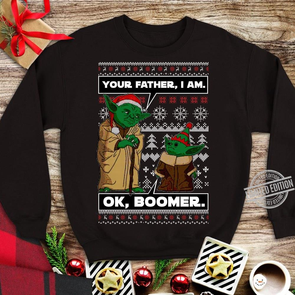 Star Wars Your Father, I Am Ok Boomer Baby Yoda Shirt