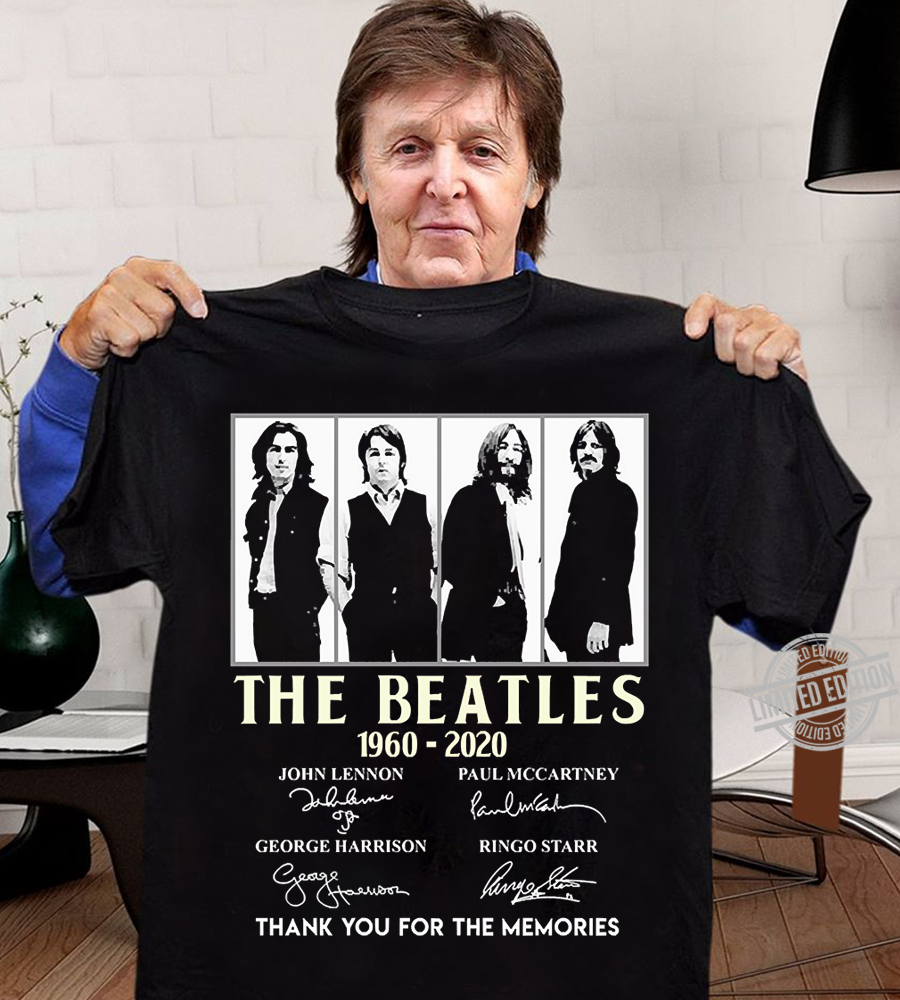The Beatles Signatures Thank You For The Memories Shirt
